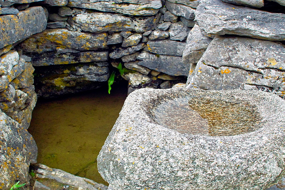 A Holy Well on Inis Oirr, Arran Islands, County Galway, Ireland.