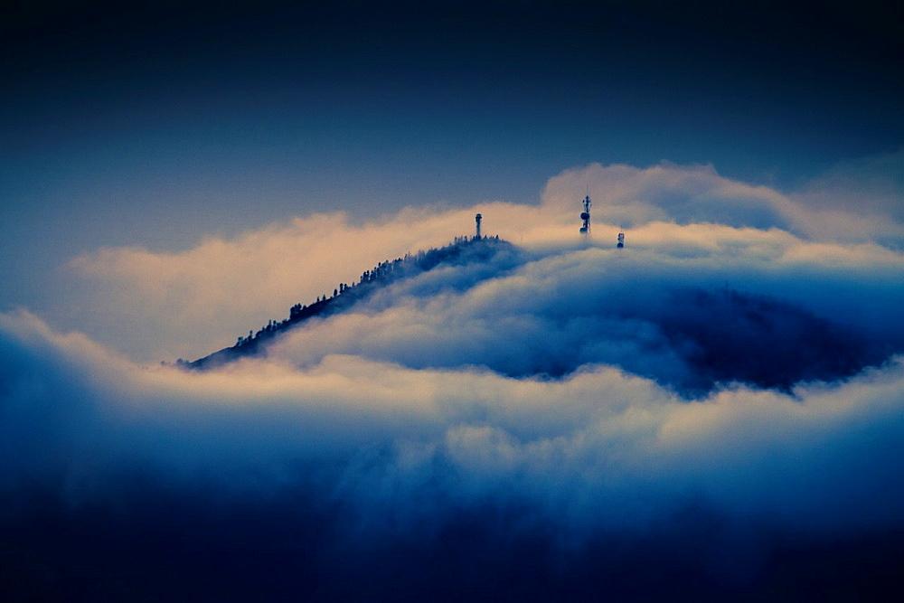 Clouds sea. Teide National Park. Tenerife island, Canary Islands, Atlantic Ocean, Spain.