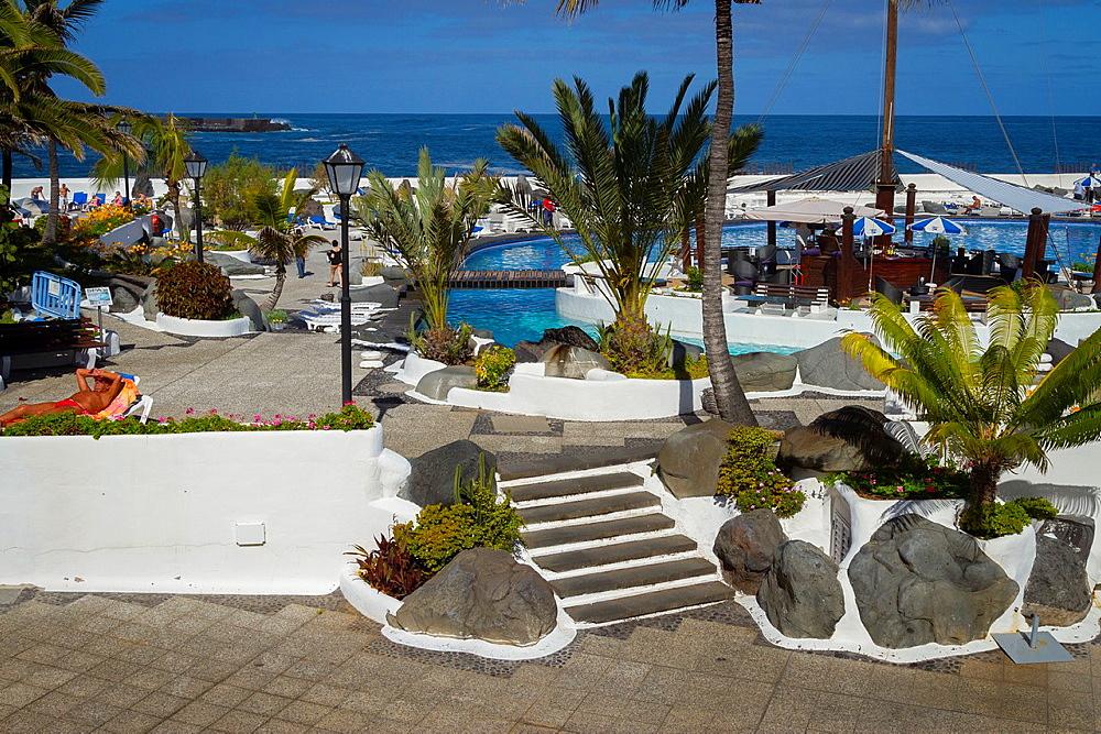 Complejo Lago Martianez. Puerto de la Cruz city. Tenerife, Canary Islands, Atlantic Ocean, Spain.