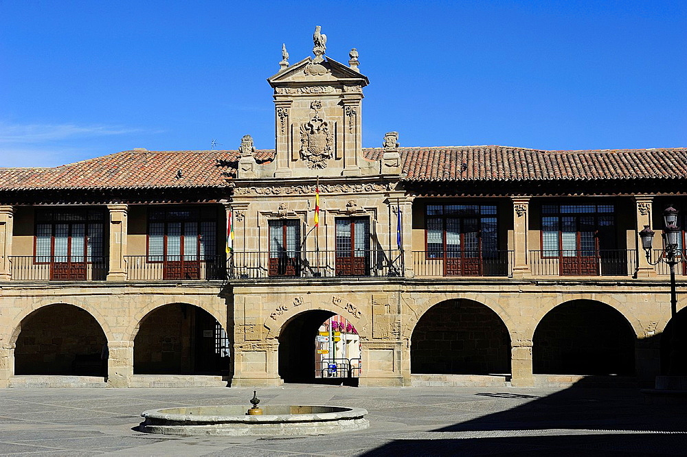 Main Square of Santo Domingo de la Calzada. La Rioja, Spain