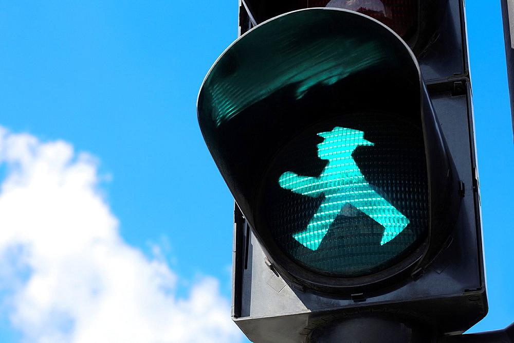 Traffic light in Berlin, East Germany