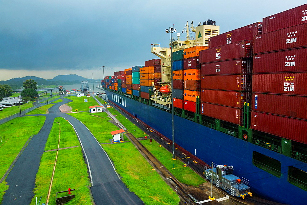 Panama Canal, Panama City, Panama, Central America, America.
