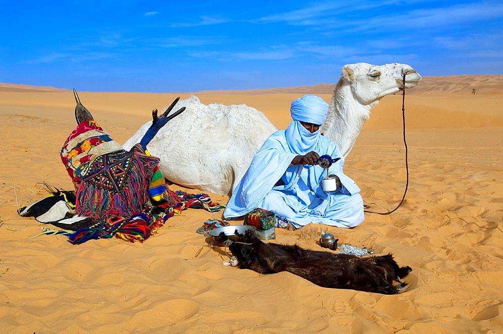 Tuareg, Libyan Arab Jamahiriya, Libyan Desert.