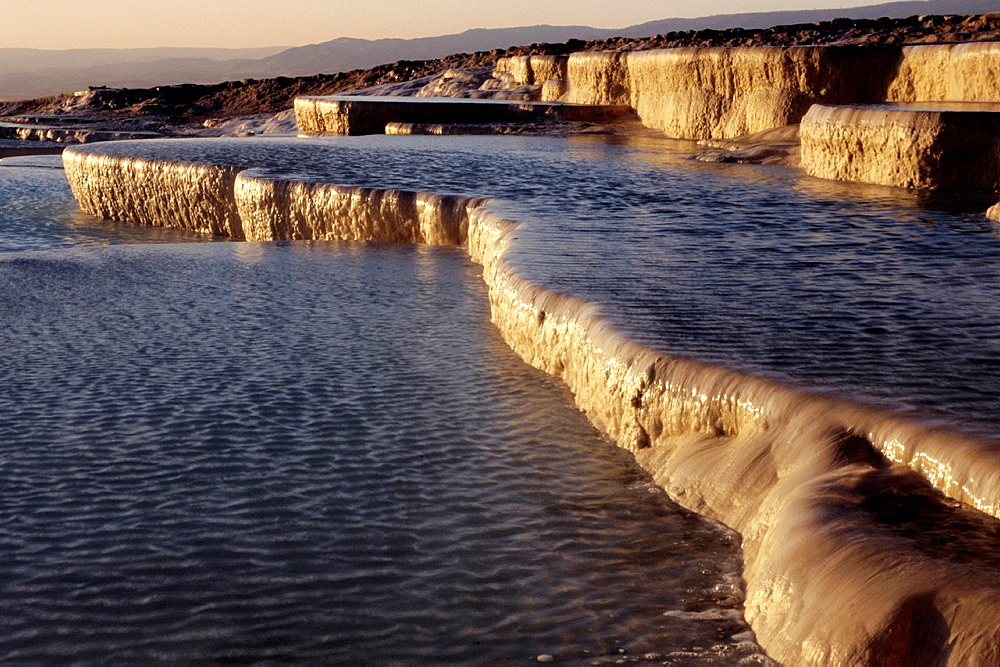 Pamukkale, Terrace Pools, UNESCO World Heritage Site, Turkey. - 817-446104