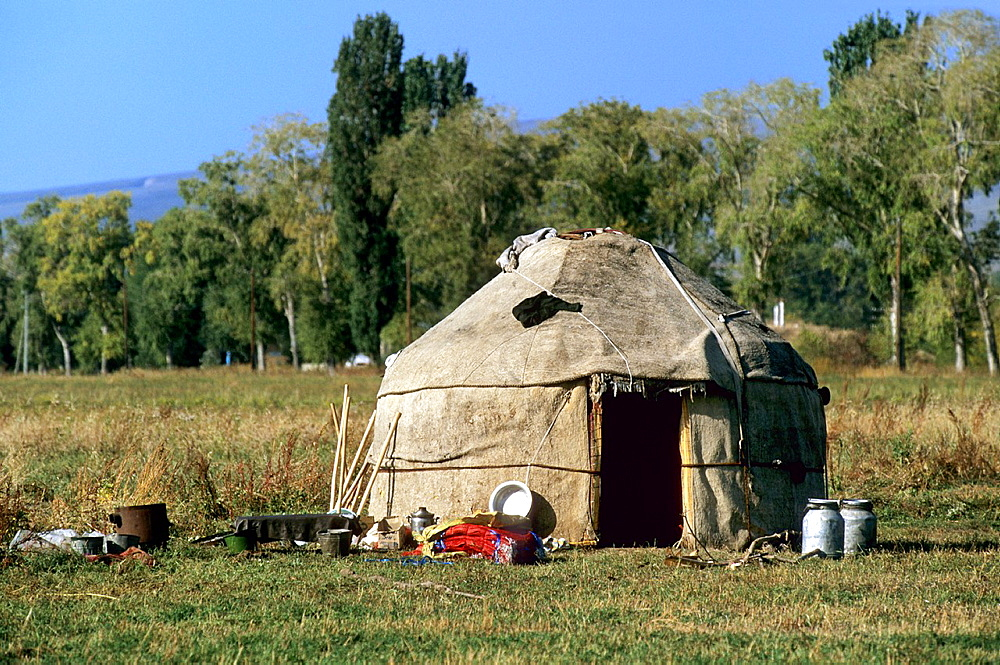 Yurt, Traditional Tent, Kyrgyzstan.