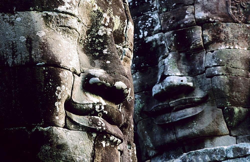 Faces of Lokeshwaram at Bayon Temple Angkor