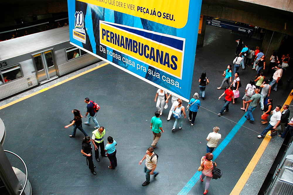 Sao Paulo, Brazil, a subway station