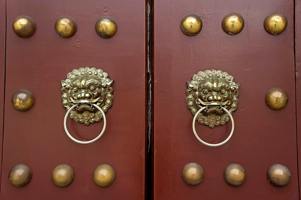 The doors at Chiang Kai Shek Memorial, Taipei, Taiwan