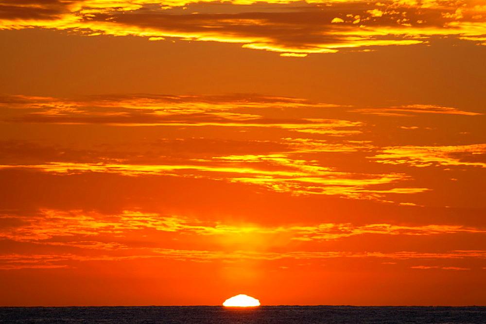 Sunrise at 'Cabo Pulmo', a national park at Baja California Sur, Mexico.