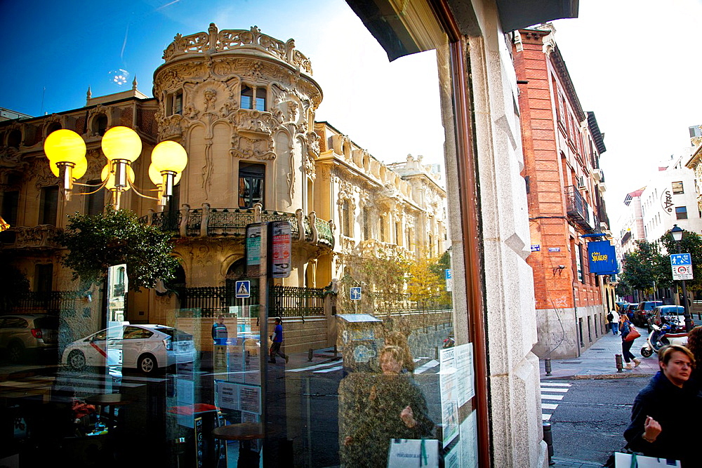 SOGEM, copyright office in Spain. Chueca district, Madrid, Spain.