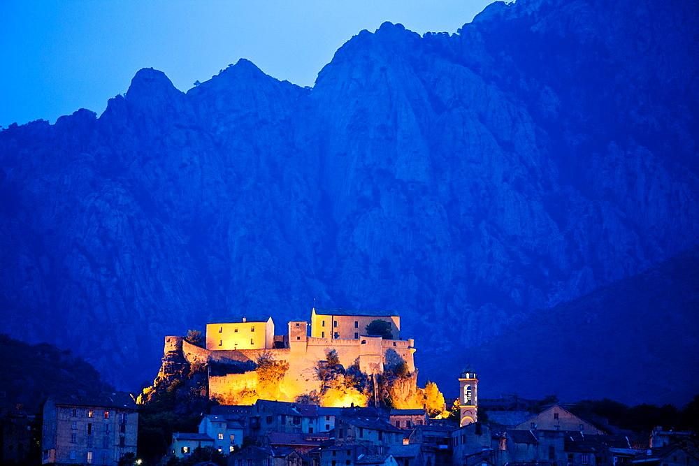 Castle of Corte, Corsica, France.