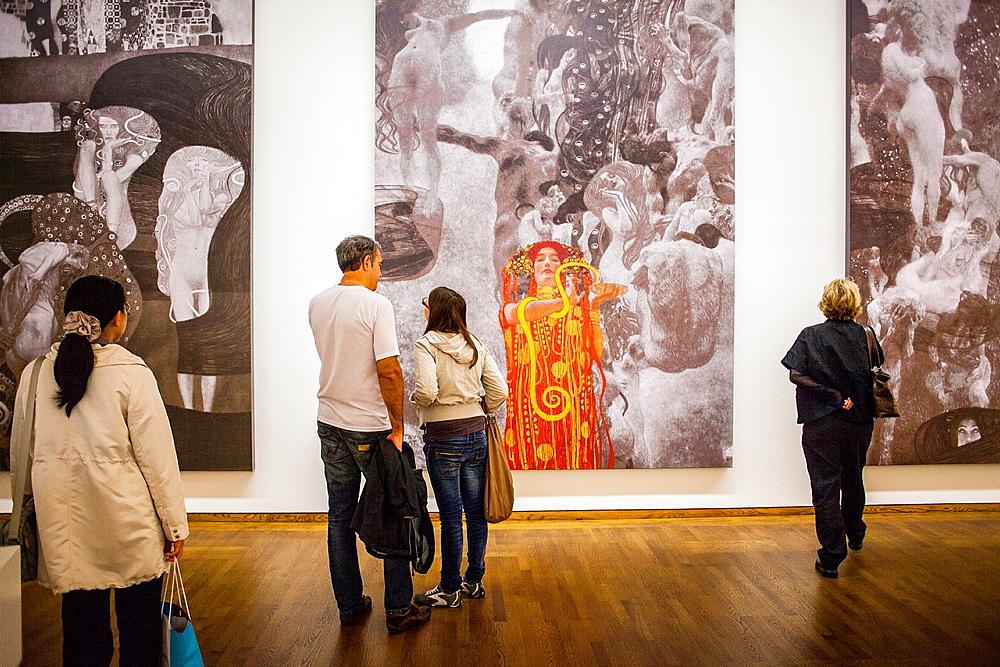 University paintings,Philosophy Medicine and Jurisprudence, for the university of Vienna,Gustav Klimt,Leopold Museum,Vienna, Austria, Europe.
