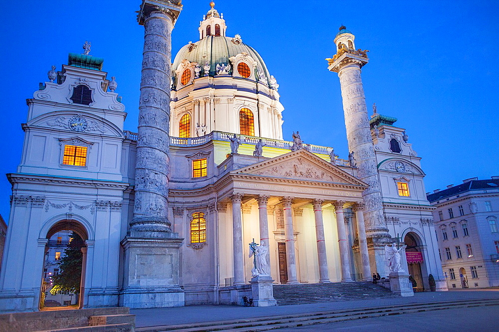 St. Charles Church or Karlskirche,Vienna, Austria, Europe.