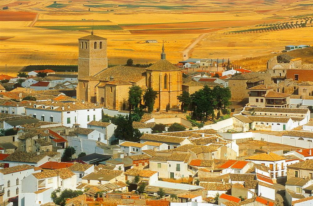 Belmonte,Collegiate church of San Bartolome ,Cuenca province,Castilla La Mancha,the route of Don Quixote, Spain.