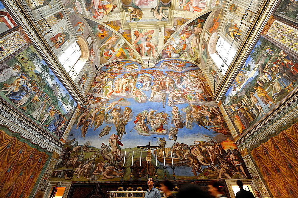 Michelangelo's Sistine Chapel and The Last Judgement, Rome, Italy.
