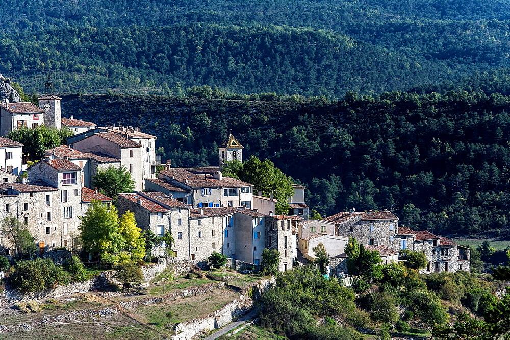 Europe, France, Var, Parc Naturel Regional du Verdon, Trigance. The village.