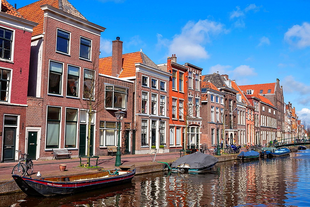 University town Leiden in South Holland, Netherlands.