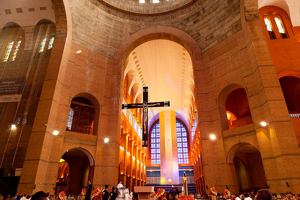 Basilica of the National Shrine of Our Lady of Aparecida, Aparecida do Norte, Sao Paulo, Brazil.