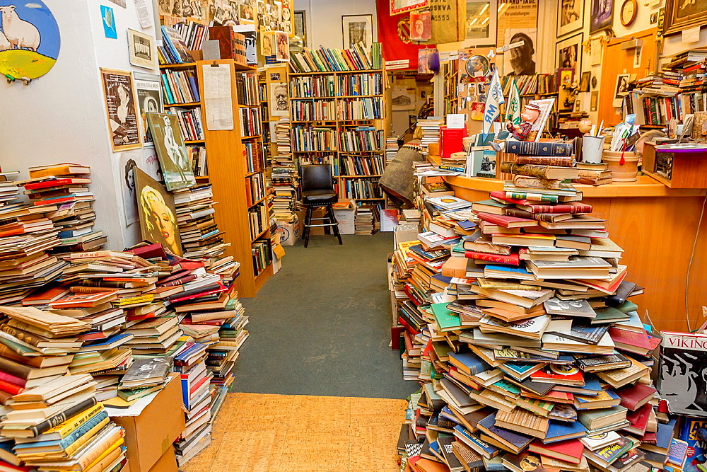 Used book store, Reykjavik, Iceland.
