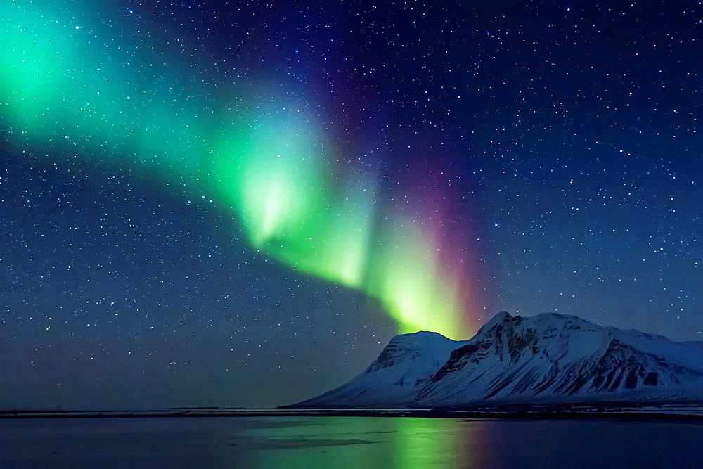 Aurora Borealis or Northern Lights, Iceland.