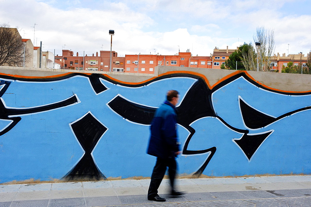 Graffiti. Colegio Episcopal. Almansa. Albacete. Spain.