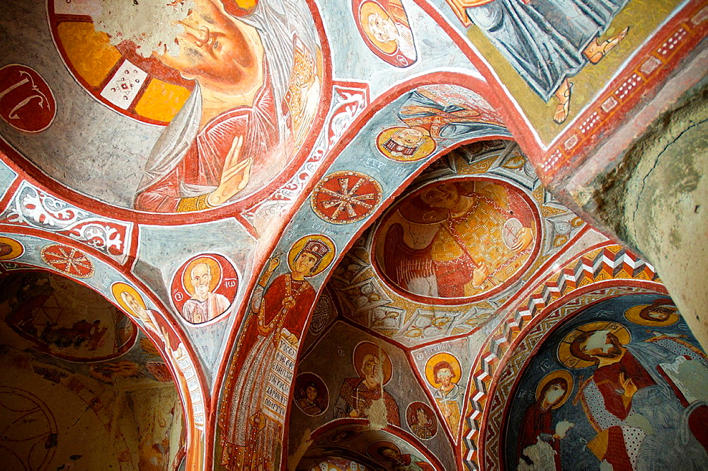 Frescoes in Elmali church, Goreme Open Air Museum. Cappadocia, Central Anatolia, Turkey.