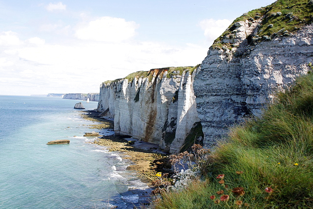 Cliffs of Etretat, Seine-Maritime, Haute-Normandie, France.