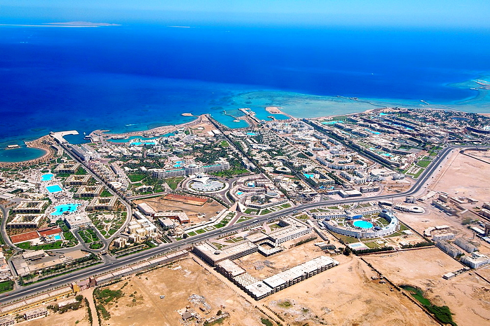 Aerophotography Hurghada, Red Sea, Egypt, Africa.