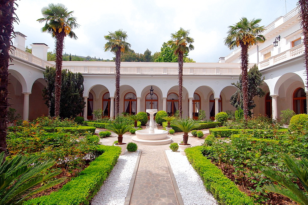 Italian courtyard of the Grand Livadia Palace - summer palace of the last Russian Imperial family.