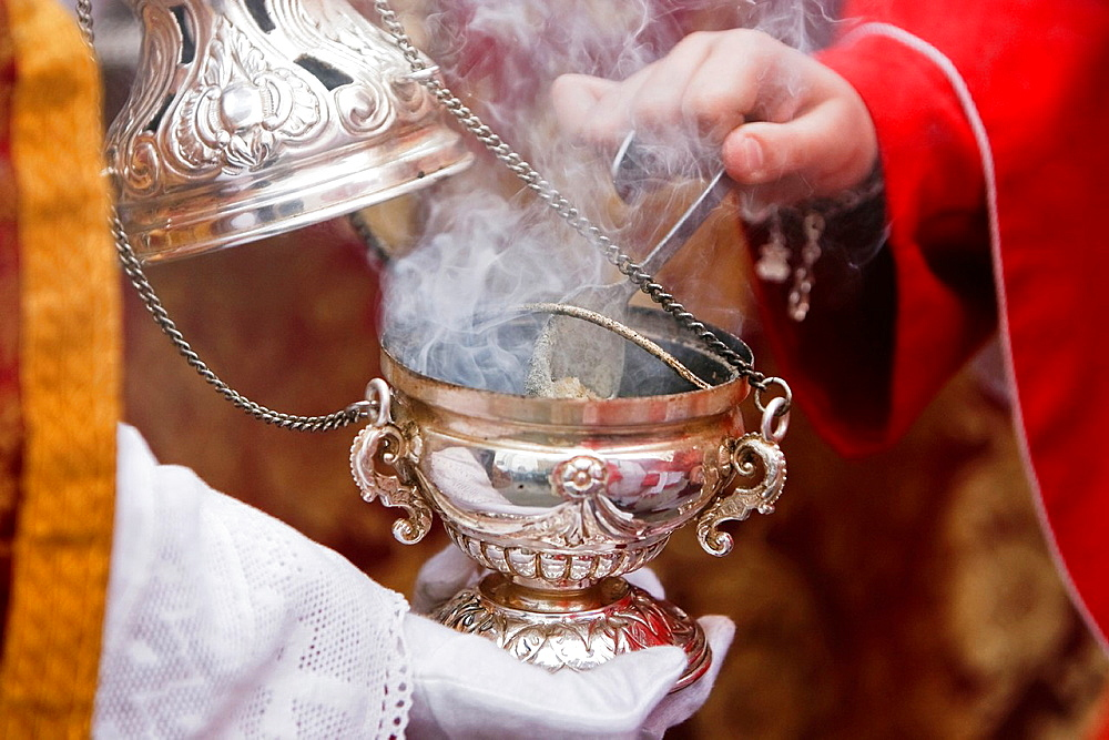 Censer of silver or alpaca to burn incense in the holy week, Spain. - 817-448155