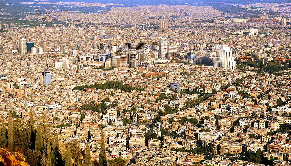 General view from Mount Qasioun, Damascus, Syria