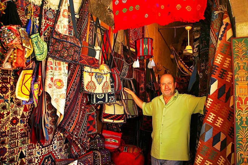 Ghassan Wasdeh carpets at the Tekkiye Suleimaniye mosque complex, Damascus, Syria