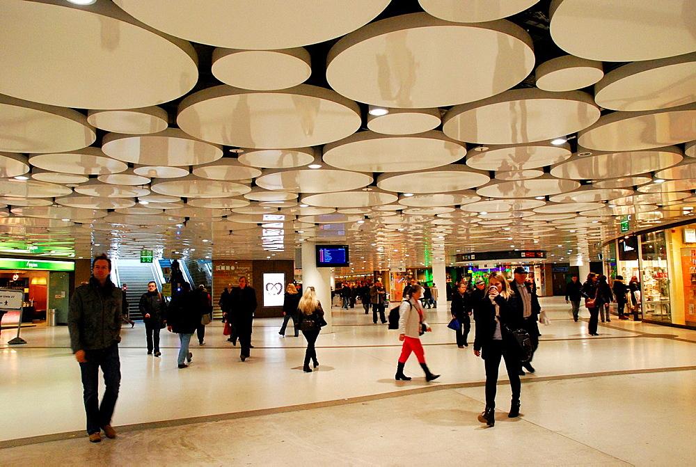 Underground shopping arcade at Karlsplatz Munich.