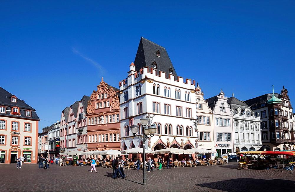 Hauptmarkt square, Steipe, Trier, Rhineland-Palatinate, Germany, Europe.