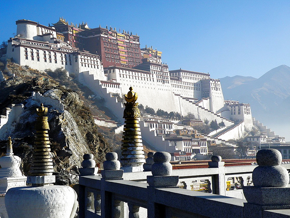 Potala Palace in Lhasa, Tibet, China
