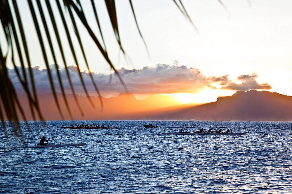 Moorea Island In Frech Polynesia.