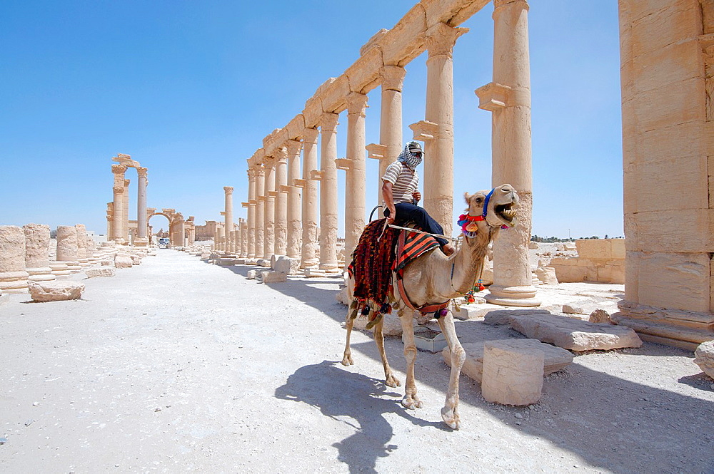 The ruins of the ancient city of Palmyra, Syria.