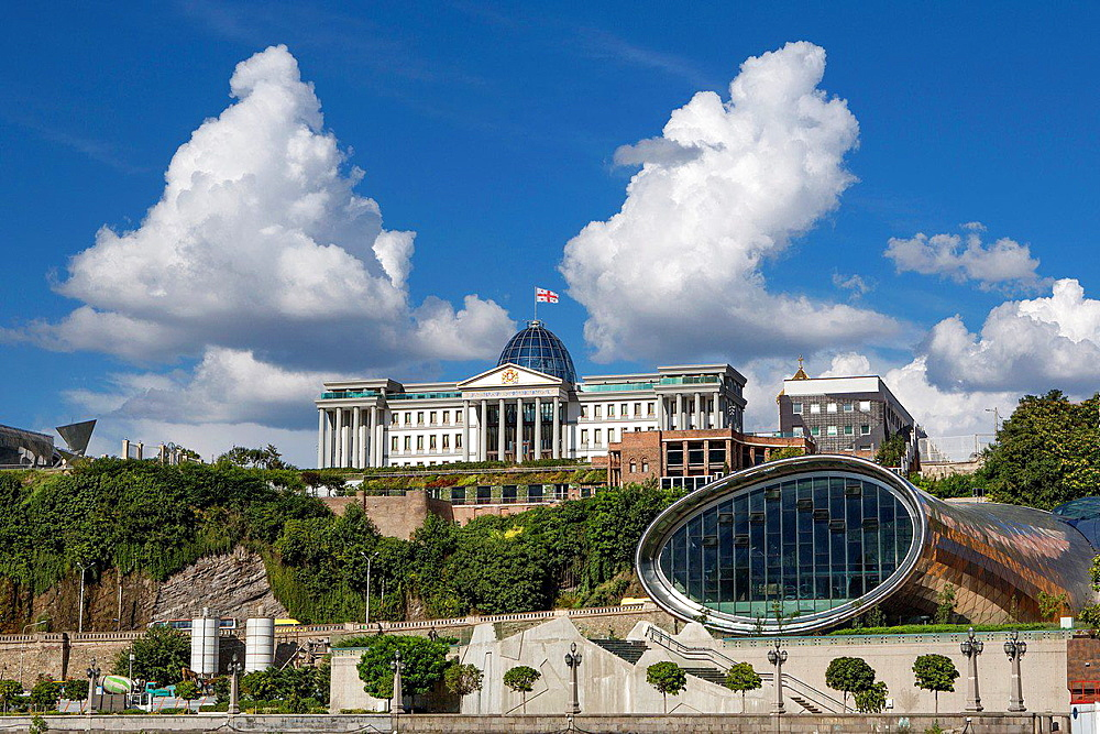 Georgia ,Tbilisi City ,The President Residence and the New Opera house.