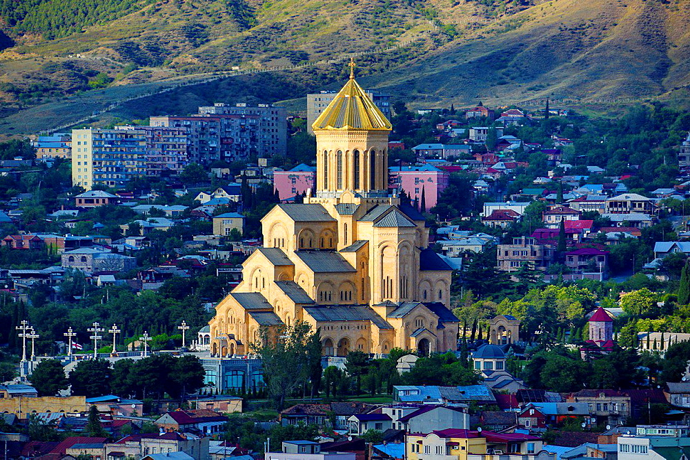 Georgia ,Tbilisi City, Sameba Cathedral.