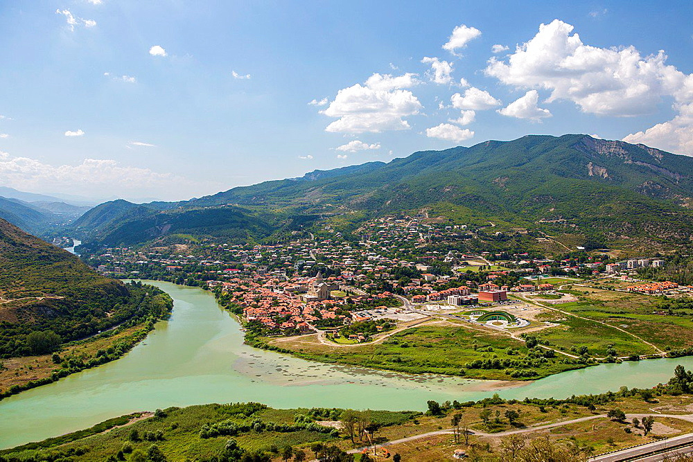 Georgia, Mtskheta City (W.H.), Mtkvari river.