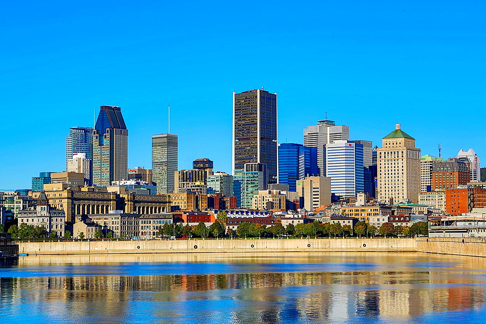 Canada , Quebec Province , Montreal City , Downtown Skyline.