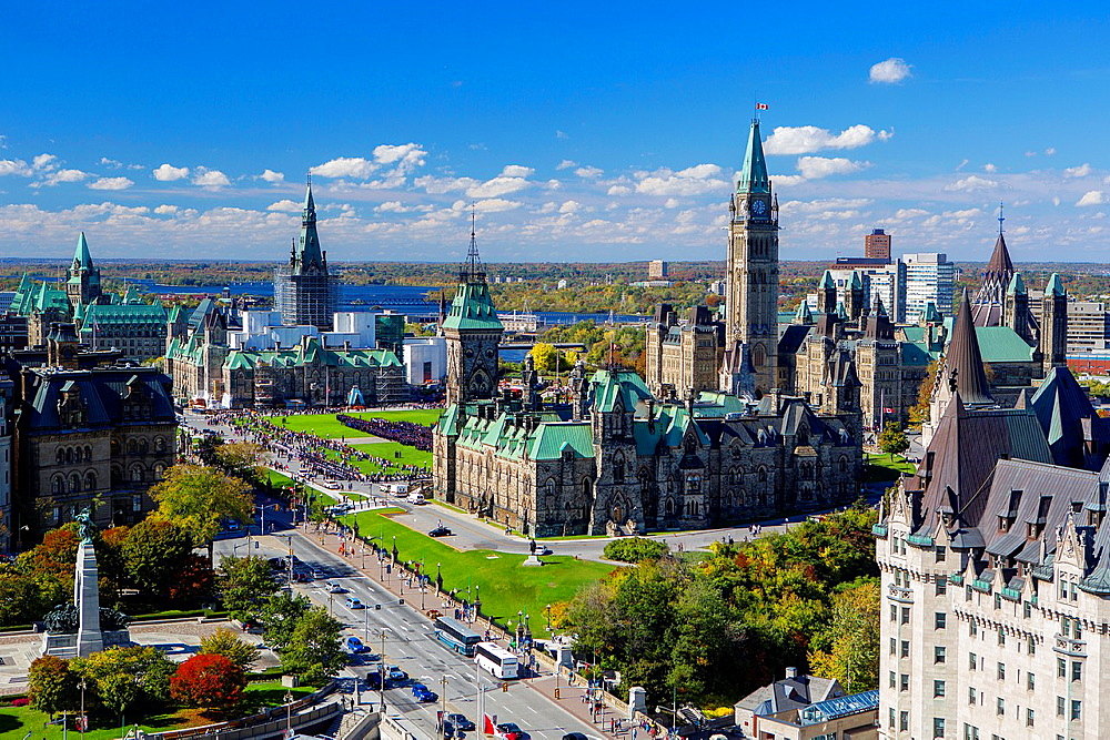 Canada , Ottawa City ,Parliament Hill, Skyline.