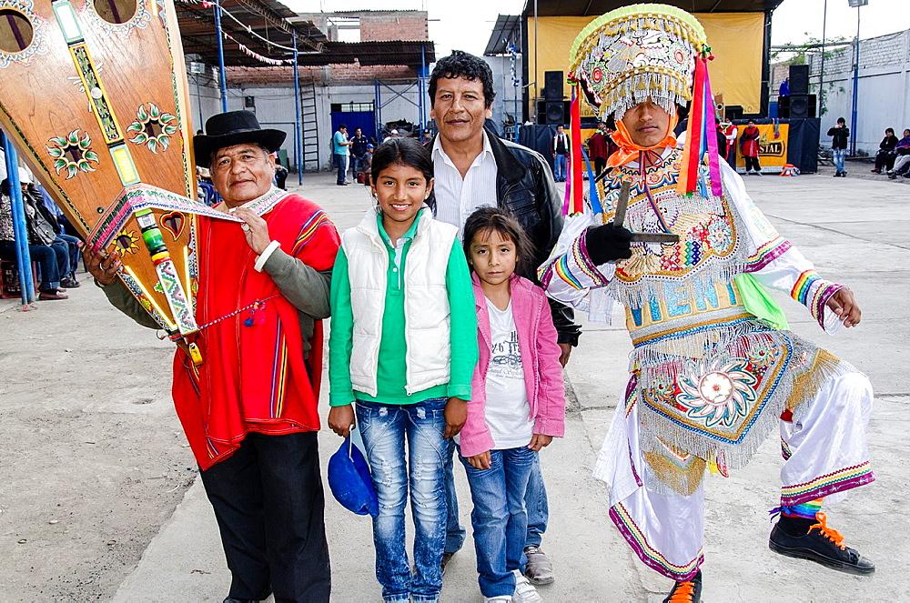 Scissors dancers Danzantes de Tijeras. Intangible cultural heritage by UNESCO. Peru.