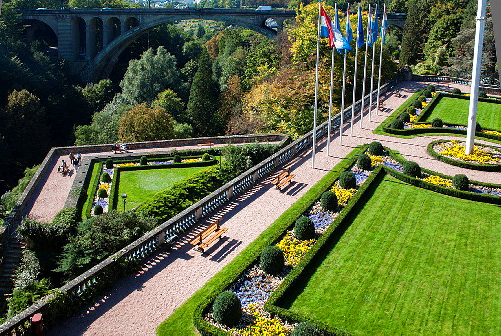 Europe, Luxembourg City Petrusse Valley la citadelle the citadel
