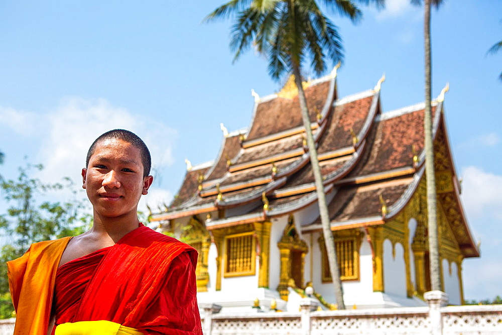 Haw Pha Bang temple in Luang Prabang, Laos.