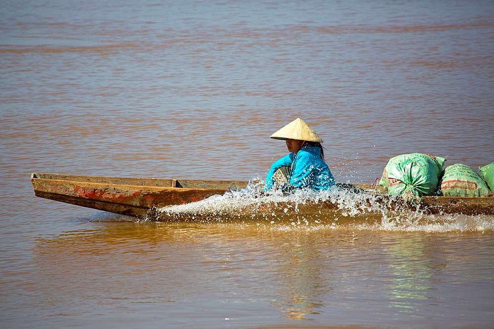 Don Det island in the Mekong River, 4000 Islands in Southern Laos.