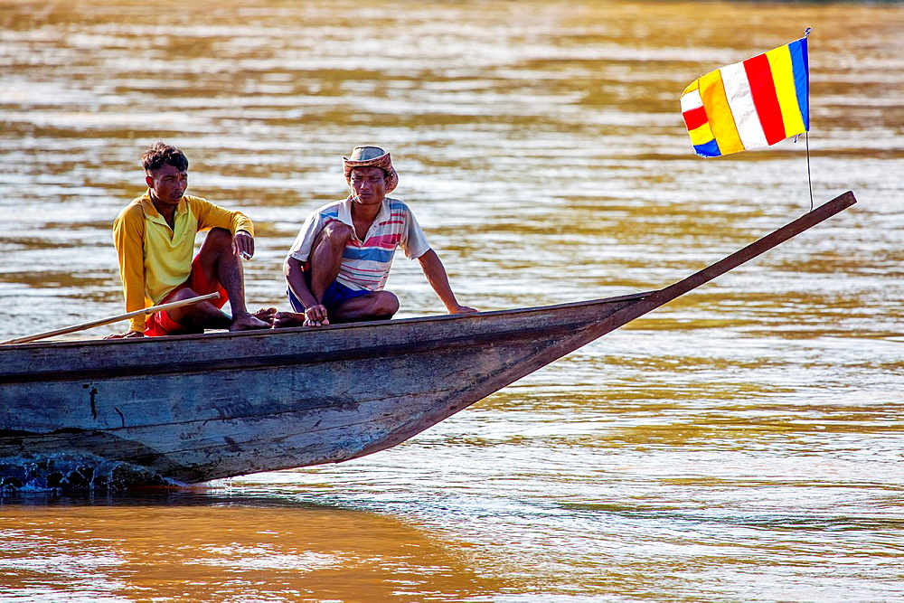 Don Khon island in the Mekong River, 4000 Islands in Southern Laos.