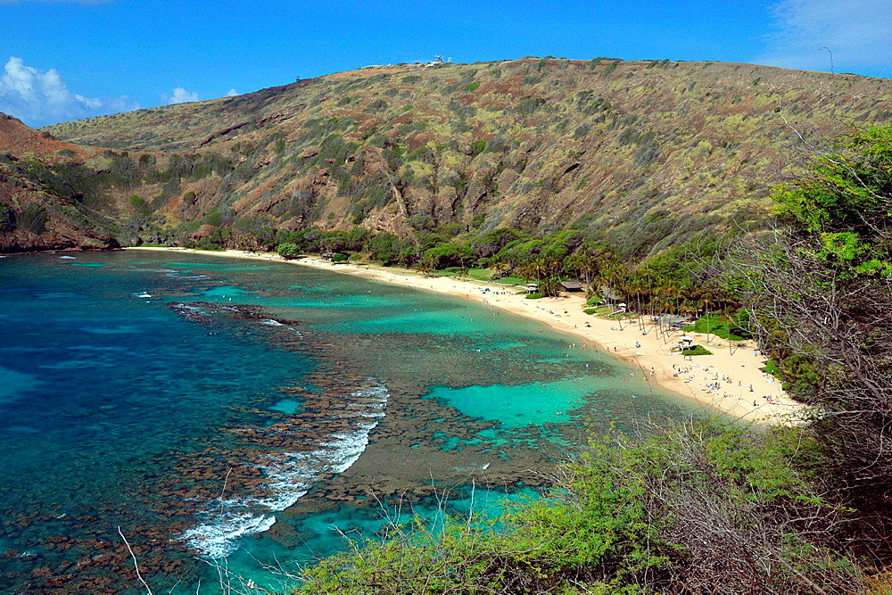 Hanauma Bay Nature Preserve Park, Oahu, Hawaii, USA.