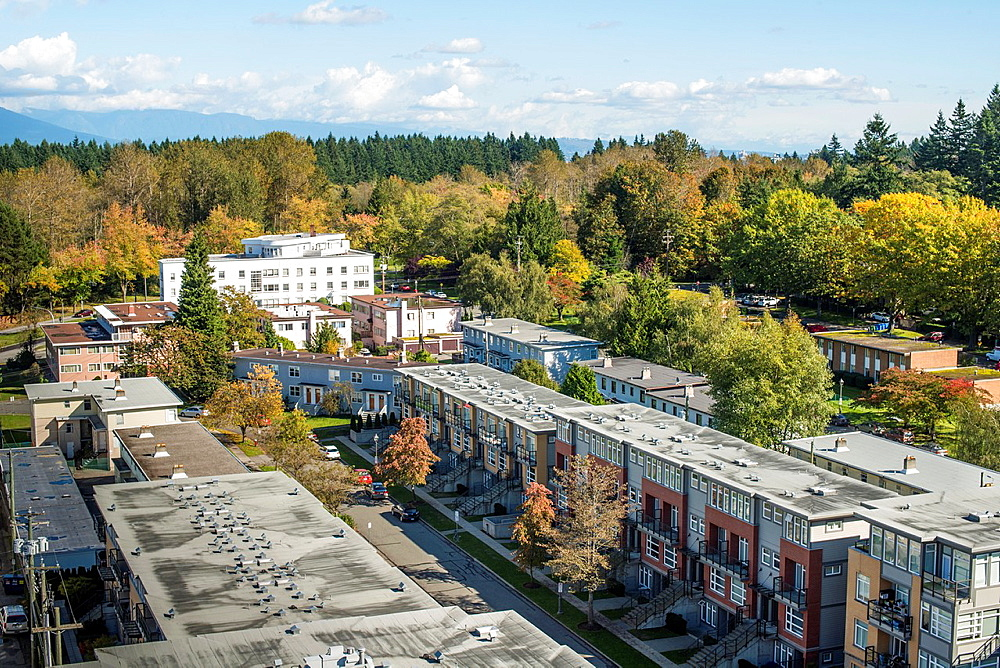 Apartment buildings next to the University of British Columbia campus, Vancouver, BC, Canada.
