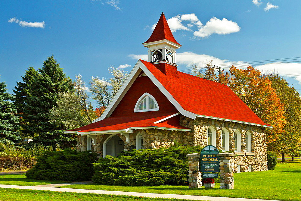 The Redpath Memorial Presbyterian Church at Cross Village, Michigan, USA